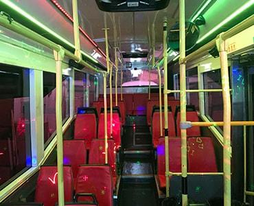 55 passenger party bus