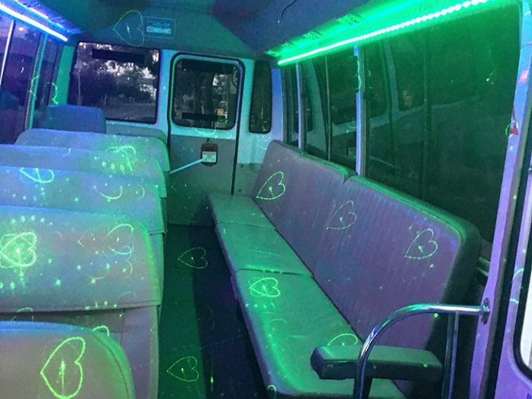 Mini Party Bus With Bench Seat