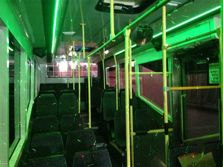 karaoke party bus with light