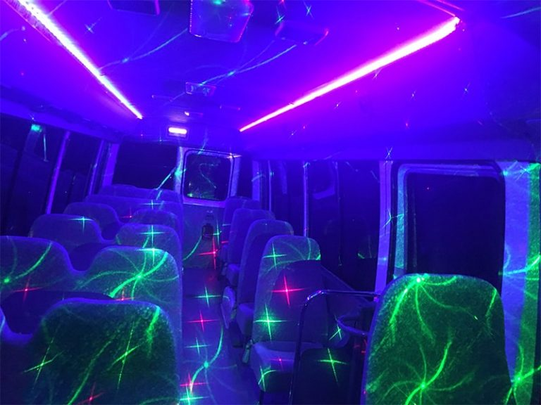 25 Passenger Party Bus With Laser Light